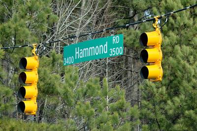 Hammond Road street sign, Raleigh, NC