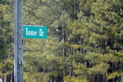 Timber Drive road sign, Garner, NC