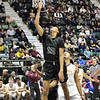 STAN HUDY - SHUDY@DIGITALFIRSTMEDIA.COM<br /> Shenendehowa's T.J. Sangare puts up a shot under the basket during  Saturday's Section II Class AA final versus Colonie at the Cool Insuring Arena in Glens Falls. March 3, 2018.