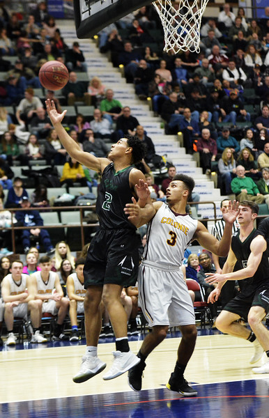 STAN HUDY - SHUDY@DIGITALFIRSTMEDIA.COM<br /> Shenendehowa's Joshua Nails looks to grab an errant pass during  Saturday's Section II Class AA final versus Colonie at the Cool Insuring Arena in Glens Falls. March 3, 2018.
