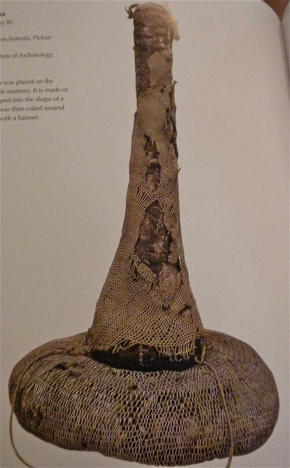 Headdress on female mummy page 192