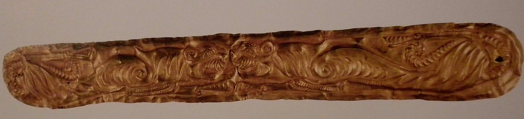 Golden belt plaque with pair of tiger's desgn page 135