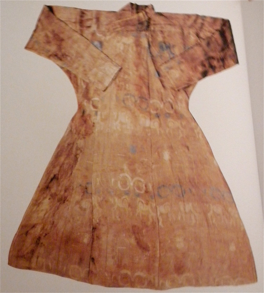 Silk robe with goat design page 146