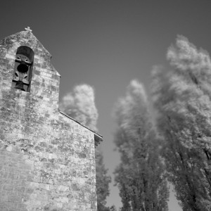 Church and Poplars, France. 2013
