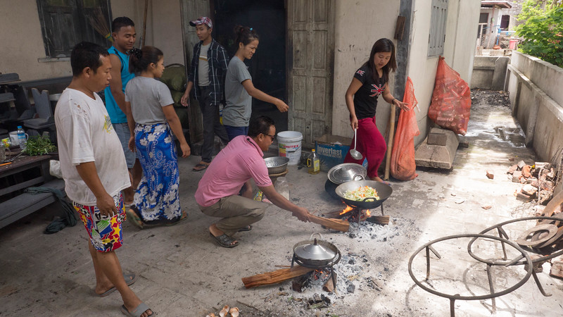 Everyone cooks with wood in Myanmar.