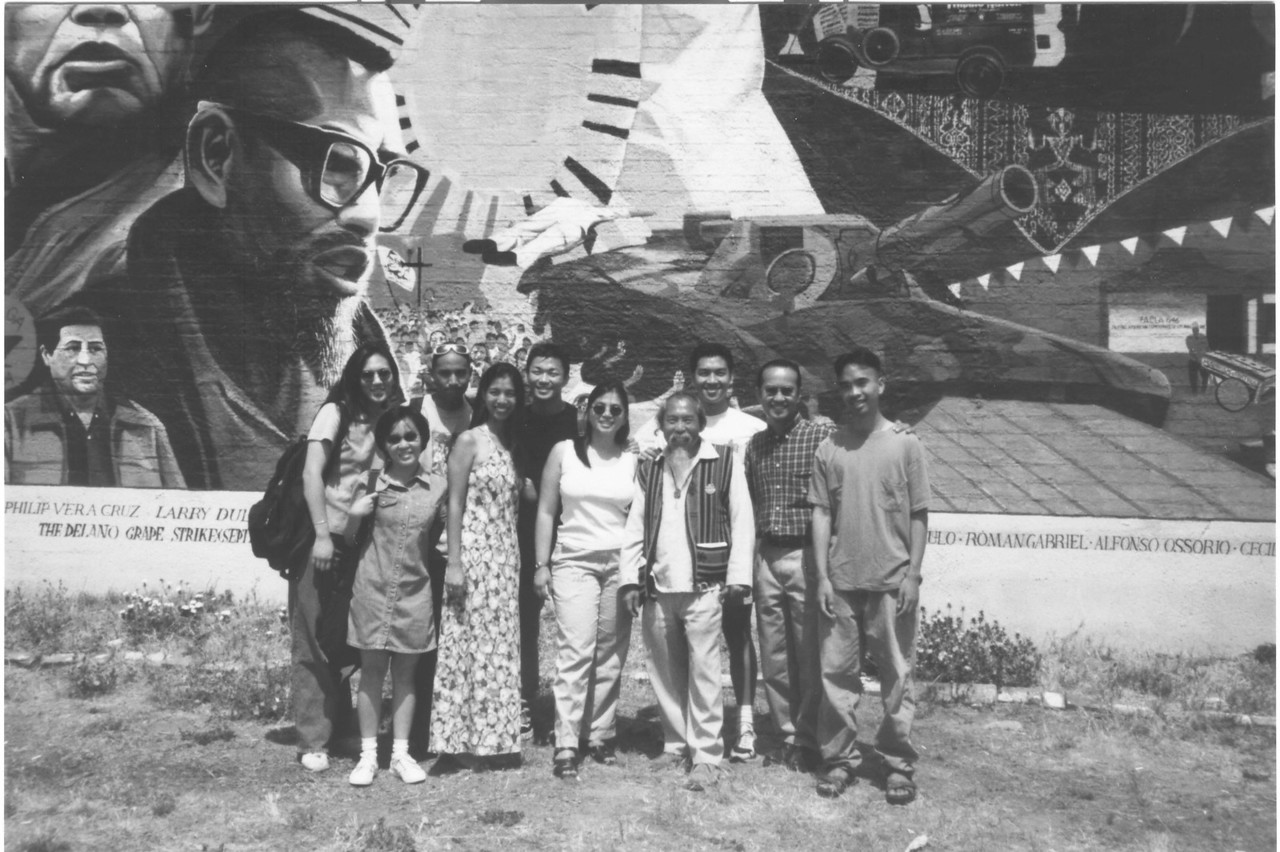 SIPA's Summer Program for Empowerment and Leadership (SPEL) interns take a P-Town tour with Uncle Roy and stop in front of The Largest Filipino American History Mural located on Beverly Blvd. in Historic Filipinotown Los Angeles.