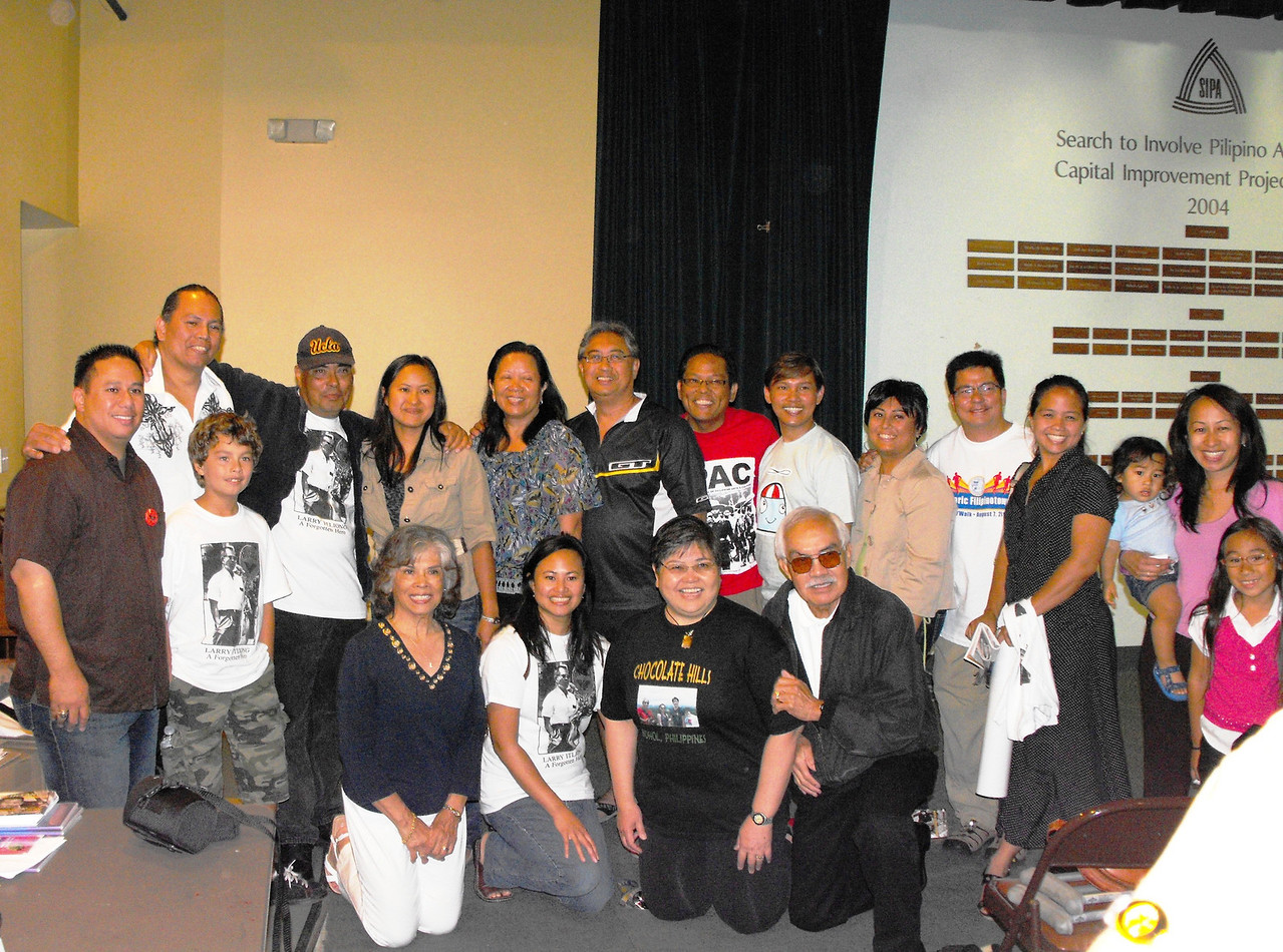 "At SIPA community supporters of promoting Filipino American history pose for a group photo with film maker Marissa Aroy (standing 5th from left) following the preview screening of her trailer and talk for a documentary project ""The Delano Manongs: Forgotten Heroes of the UFW"""