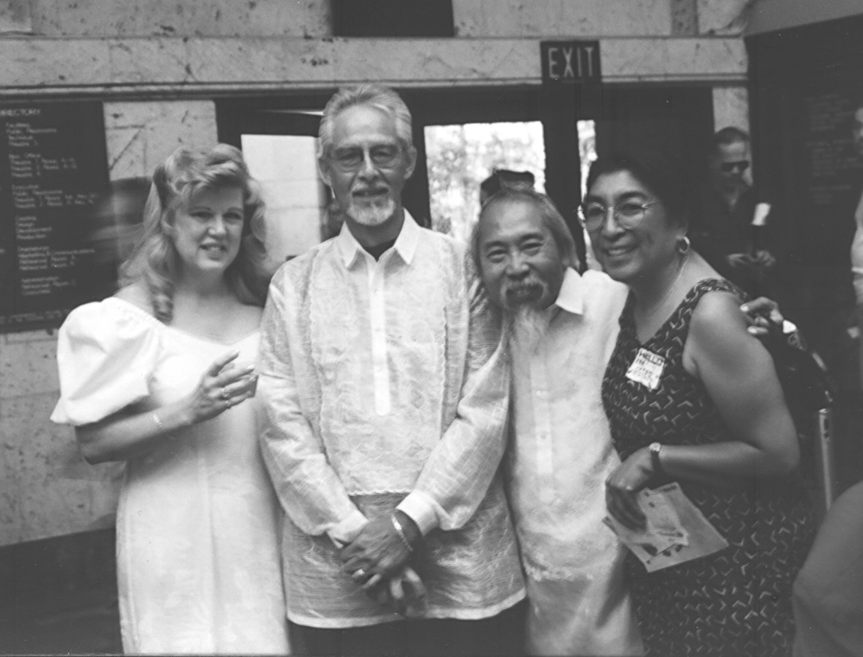 Three of the early co-founders of SIPA were (R-L) Ester Soriano, Royal Morales, and Al Mendoza. Here they are joined by Al's wife Candy on the far left for an event at the Los Angeles Theater Center (LATC).