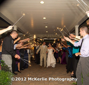 nzk speeches, dance, cake, garter, sparkler send off