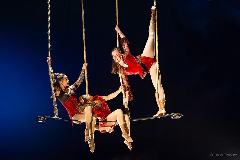 Cassia Theobaldo, Erica Stoppel e Lu Menin - Circo Zanni - Novembro 2012
