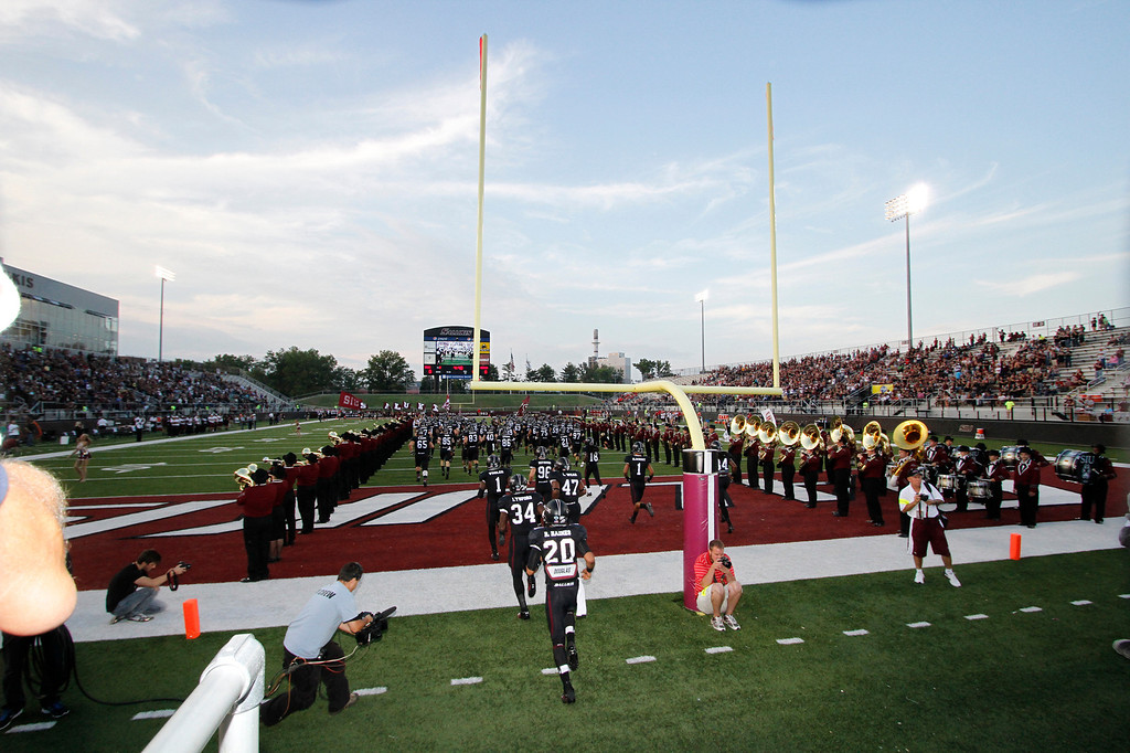 SIU Family Weekend. Salukis vs Youngstown at Saluki Stadium in Carbondale, Illinois  on September 28, 2013. Photo:Chris Anderson/114photography