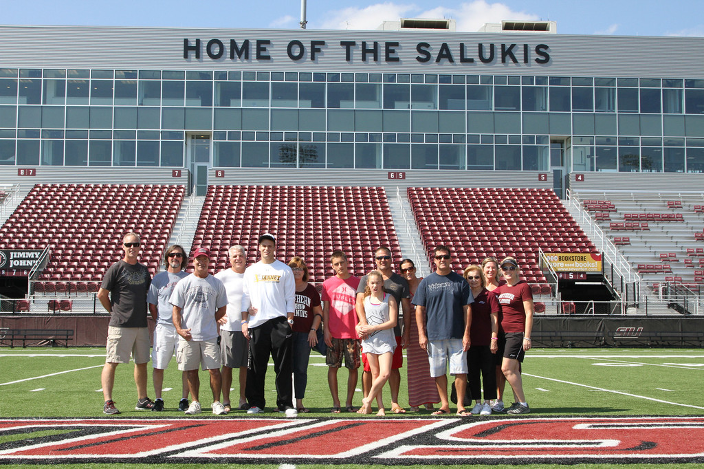SIU Family Weekend. Salukis vs Youngstown at Saluki Stadium in Carbondale, Illinois  on September 27, 2013. Photo:Chris Anderson/114photography
