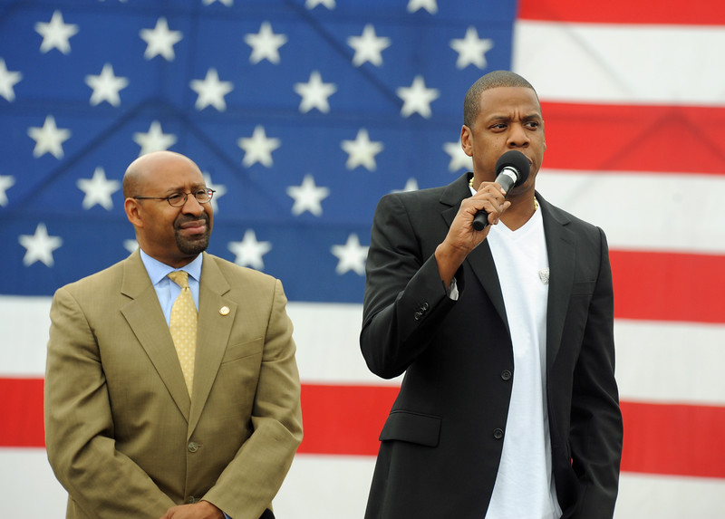 Mayor Nutter and Jay Z Announcing Made in America