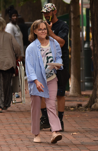 Sally Field filming AMC's Dispatches from Elsewhere Summer 2019