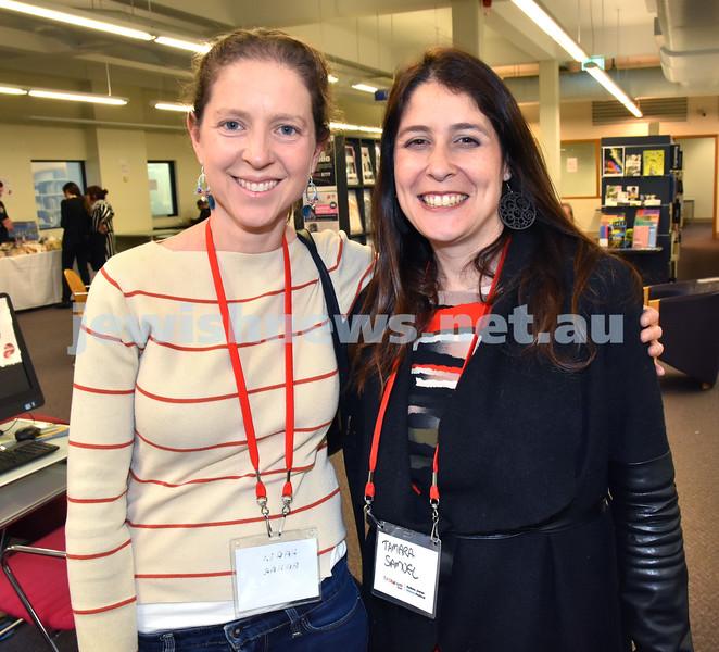 SWJF at Waverley Library. Karen Bahar (left), Tamara Samuel. Pic Noel Kessel