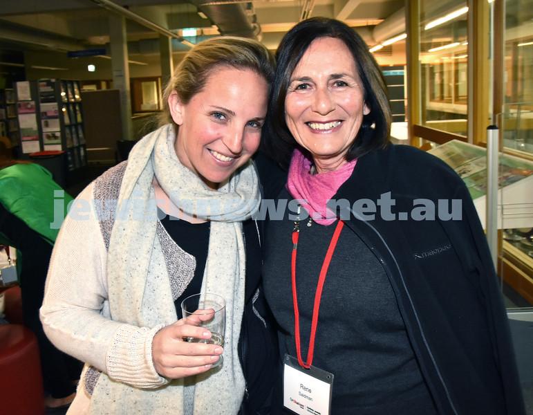 SWJF at Waverley Library. Rebecca Saidman (left), Rene Saidman. Pic Noel Kessel