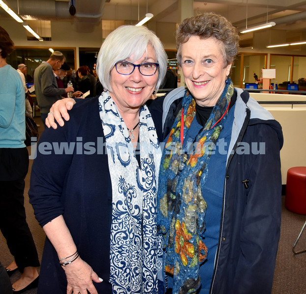 SWJF at Waverley Library. Marlene Ryan (left), Cecelia Newstadt. Pic Noel Kessel