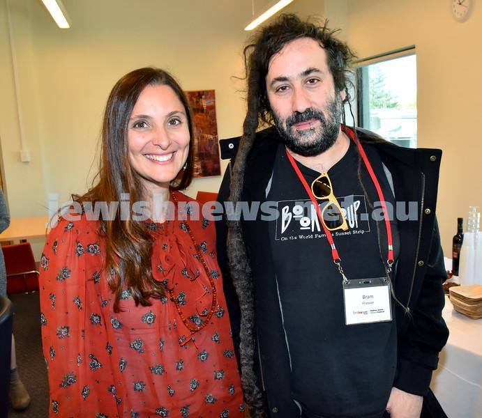 SWJF at Waverley Library. Tali Lavi (left), Bram Presser. Pic Noel Kessel
