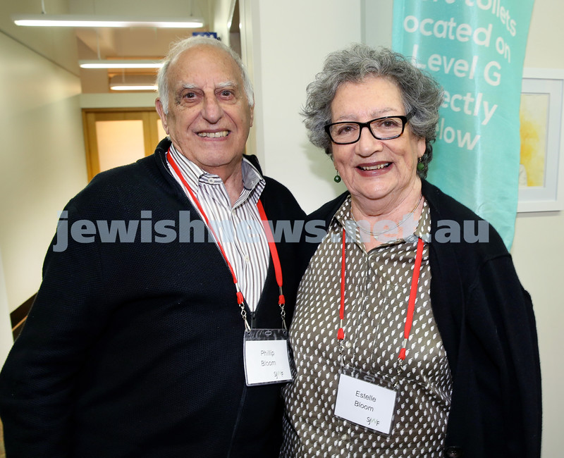 SJWF at Waverley Library. Phillip and Estelle Bloom. Pic Noel Kessel.