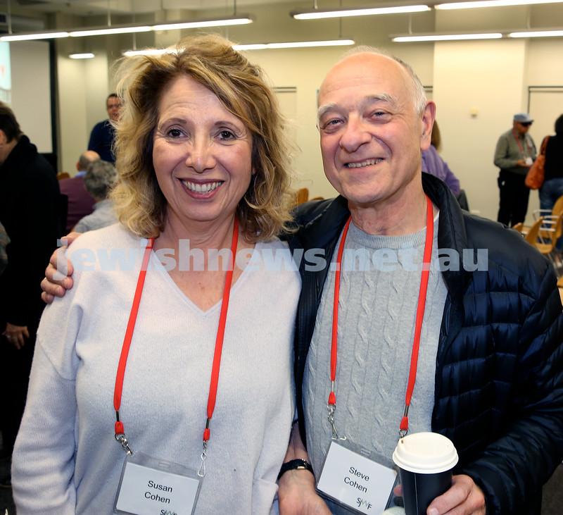 SJWF at Waverley Library. Susan and Steve Cohen. Pic Noel Kessel.