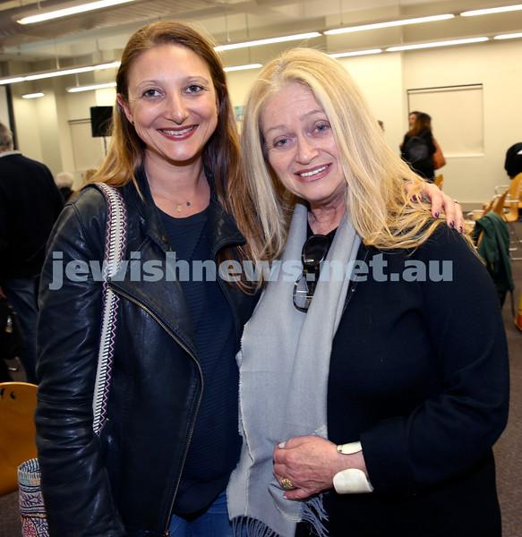 SJWF at Waverley Library. Eva Novy (left), Jody Somogy. Pic Noel Kessel.