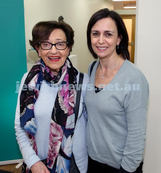 SJWF at Waverley Library. Rhonda Clennar (left) , Susan Chimes. Pic Noel Kessel