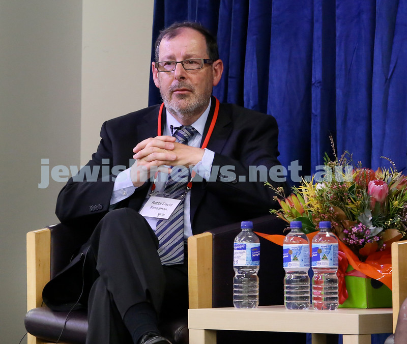 SJWF at Waverley Library. Rabbi David Freedman. Pic Noel Kessel.