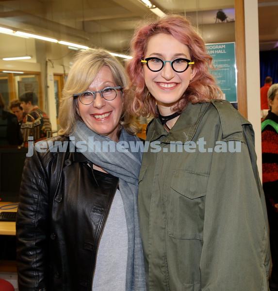 SJWF at Waverley Library. Doreene Light (left), Nicki Light. Pic Noel Kessel.