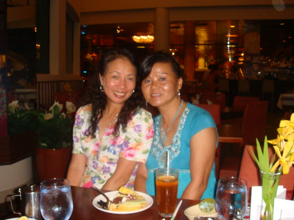 ME and my sister LC. many years of sisterhood in Hawaii, from young to middle age.