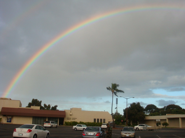 8th, morning rainbow.. just behind credit union building..