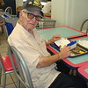 at Hickam food court.. here is a member Mr. Howard enjoyed his lunch.