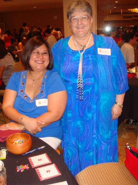 our greeter Nancy and MRO Arlene