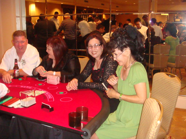 Black Jack time for mommy Kim. She made friend wit loan officer Karen A.