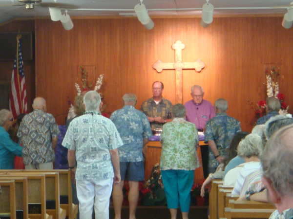 120708, 67th anniversary of  Pearl Harbor Day.  1st Sunday communion