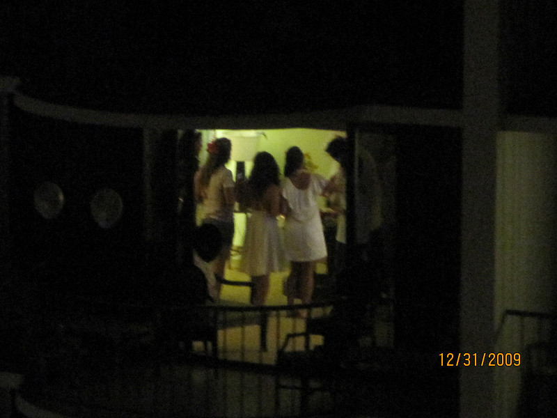from Mary's room, looking at other people' room.. party time.