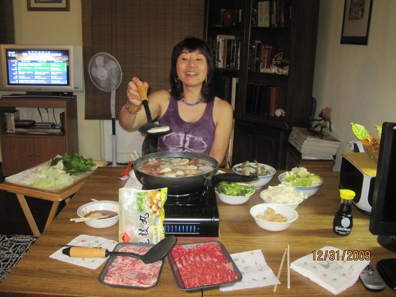 Hot pot dinner on NY Eve