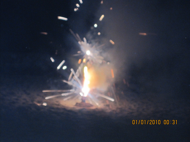 little firework on the beach..