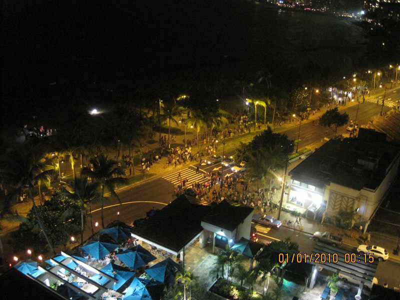 after fireworks.. crowds going back to hotel..