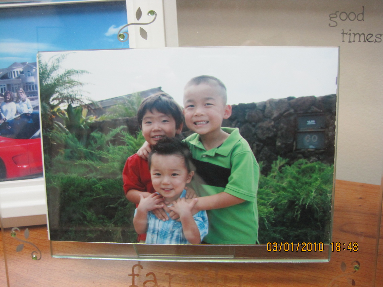 meet my financial advisor Katie's 3 adopted sons: #1 Kylan (Tsun Tien=Spring Field) in green is 6 from China; Kaden will be 4;  and Tristan will be 3 in August both from Korea.  They are so cute!