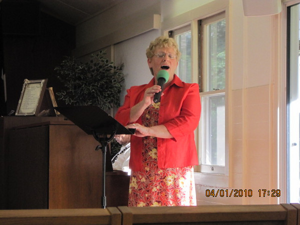 Ch. Crary's wife Robin. special solo singer for this special service.