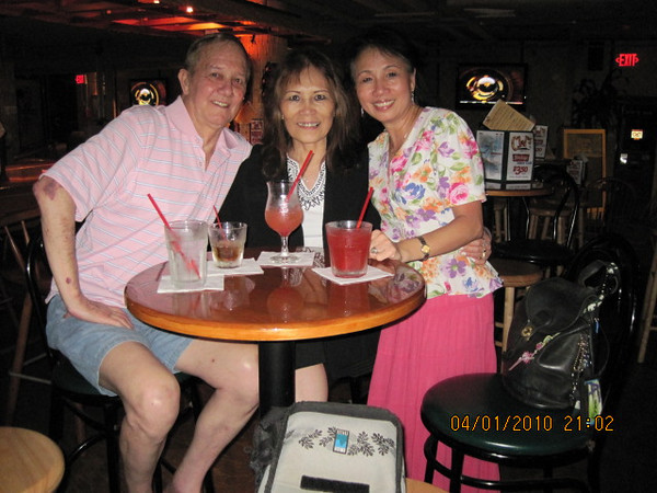 Jack  & Gina from VA, and me .  I had this top over 20 yrs.. it was a hand me down from LC.. love this colorful blouse on me.