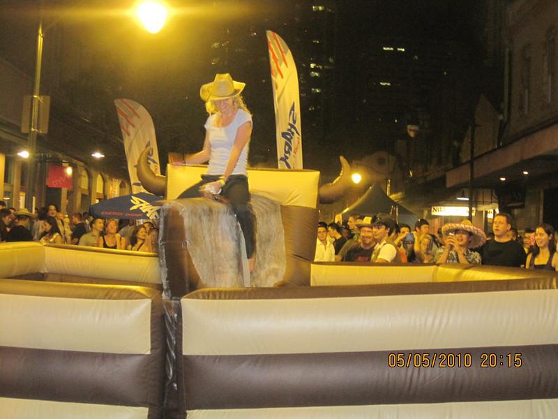 a lady bull rider?
