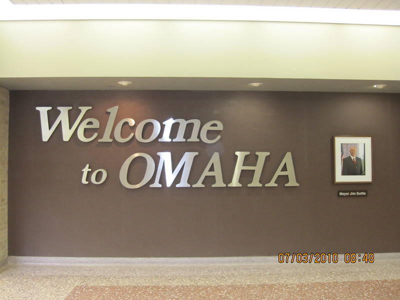 make sure you know where we were.. Omaha.. Thank God!