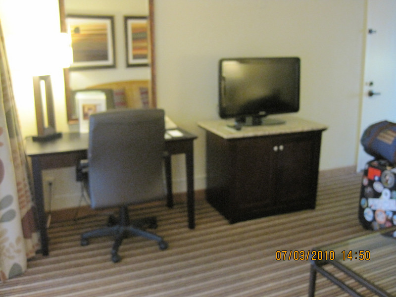 Double Tree Hotel.. pretty nice suites.. Priceline gave Ben a good deal.. $64 a night.