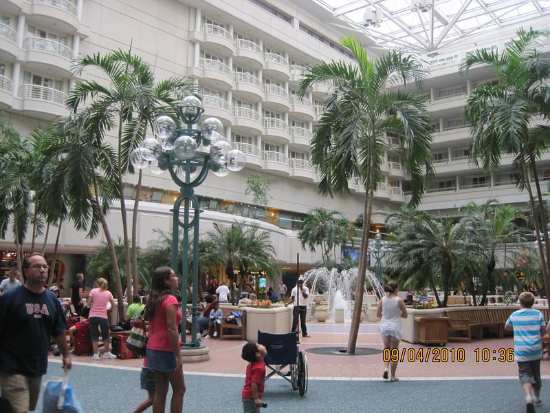 Orlando airport atrium