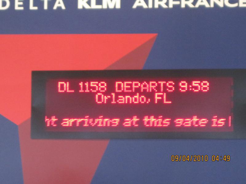 next flight to Orlando..