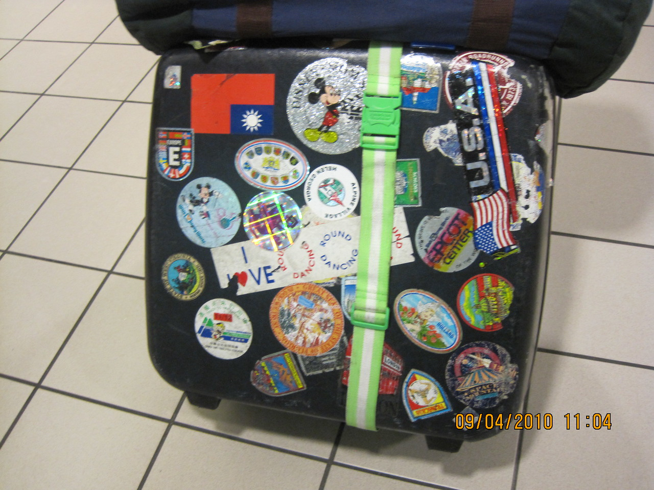SJ's worldly travel stickers.