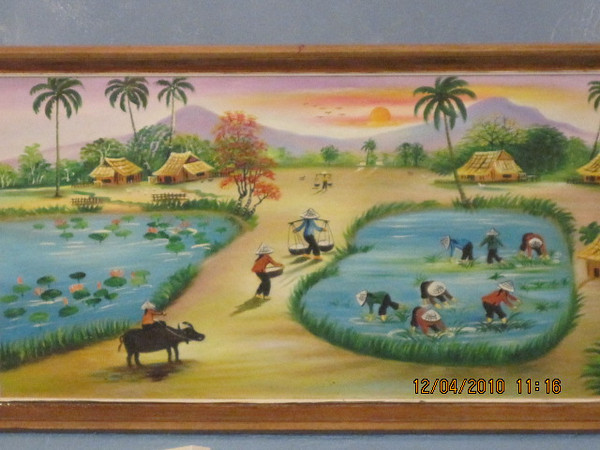 a painting showing good old fun days..