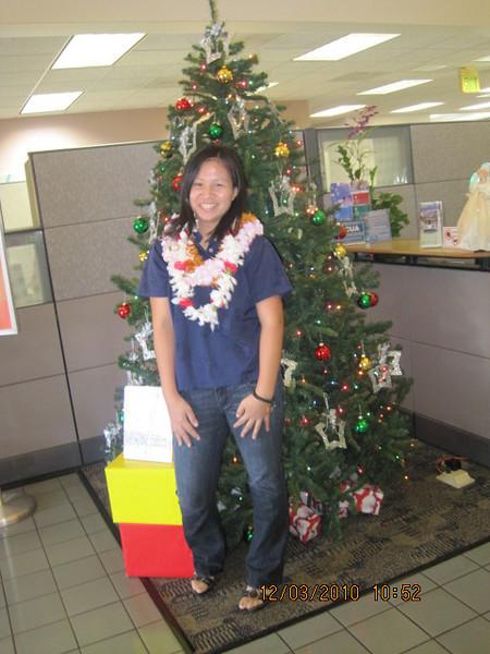 Maria.. last pose with HFCU Xmas tree...