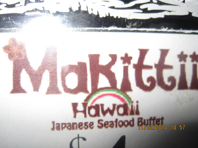 "Creative way of spelling ""My Kitty""... it's Japanese ""MaKittii"".. new restaurant in Waikiki.. attracted most Japanese tourists in town."